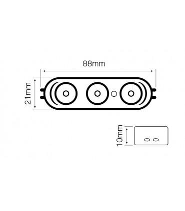 Moduł OPTO LED line® SMD2835 12V 2,5W 6000-6500K 170°