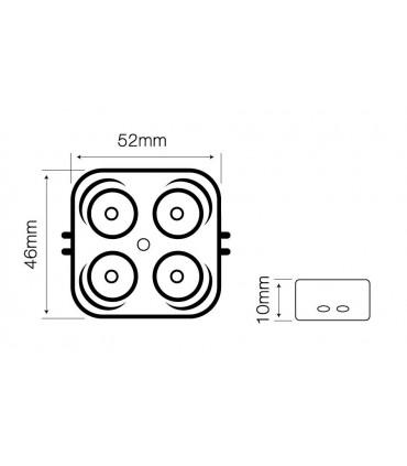 Moduł OPTO LED line® SMD2835 12V 3W 6000-6500K 170°