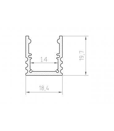 Profil LED - P25-3