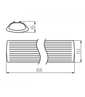 Listwa LED płaska 3,6W 450lm 33 cm biała ciepła z zasilaczem