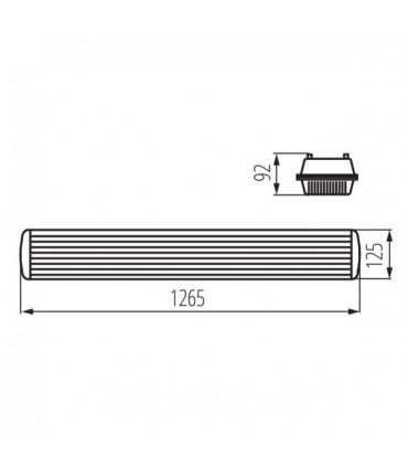 Oprawa pyłoszczelna MAH PLUS-236/4LED/PC