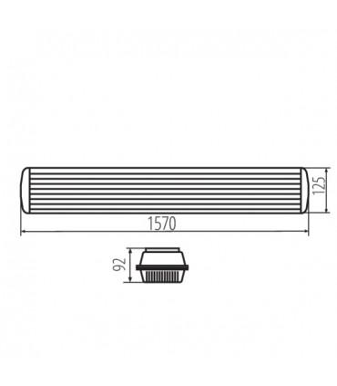 Oprawa pyłoszczelna MAH PLUS-258-ABS/PC