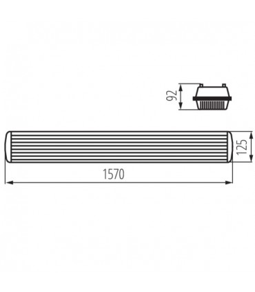 Oprawa pyłoszczelna MAH PLUS-258/4LED/PC