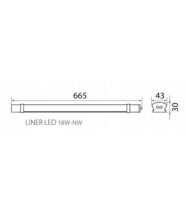 Oprawa liniowa LINER LED 18W-NW