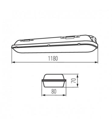 Oprawa pyłoszczelna MAH-LED N 40W-NW/PC