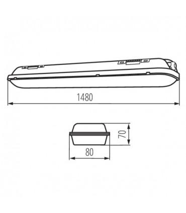 Oprawa pyłoszczelna MAH-LED N 50W-NW/PC