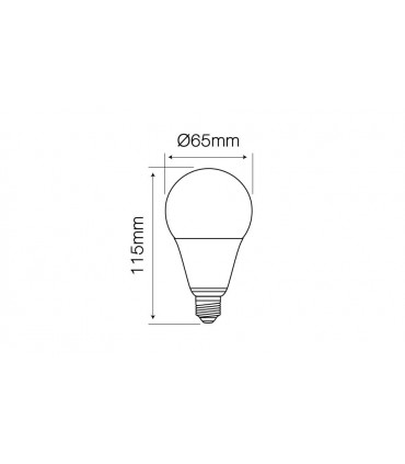LED LINE E27 170-250V 13W 1300LM 2700K A65 DIMMABLE