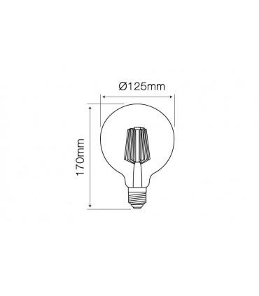 LED LINE E27 FILAMENT 180-265V 8W 864LM 2200K G125