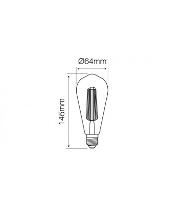 LED LINE E27 FILAMENT 180-265V 6W 648LM 2200K ST64