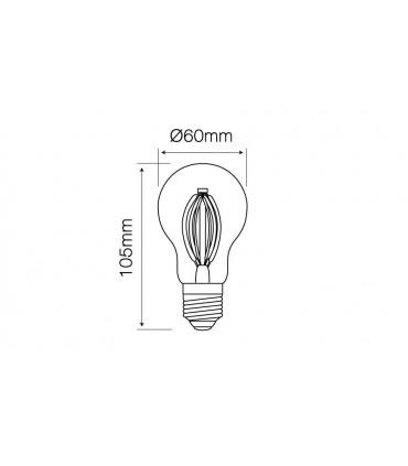 LED LINE E27 FILAMENT 180-265V 8W 968LM 4000K A60D Ściemnialna