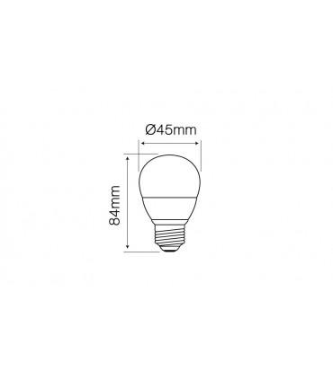 LED LINE E27 SMD 170-250V 7W 630LM 2700K G45