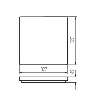 Plafon VARSO LED 24W-NW-L-SE