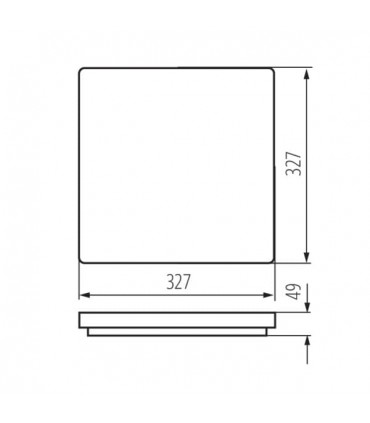 Plafon VARSO LED 24W-WW-L