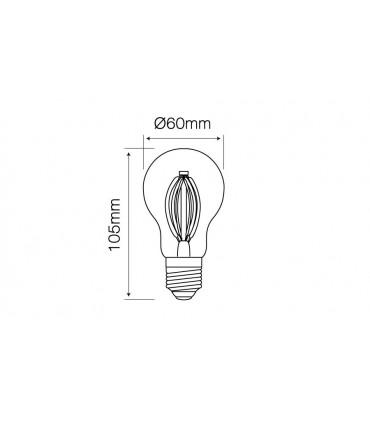 LED LINE E27 FILAMENT 180-265V 6W 726LM 4000K A60
