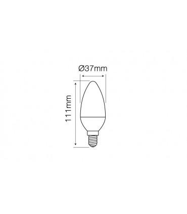 LED LINE E14 SMD 170-250V 9W 992LM 2700K C37 DIMMABLE