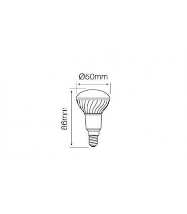 LED LINE E14 SMD 170-250V 7W 595LM 4000K R50