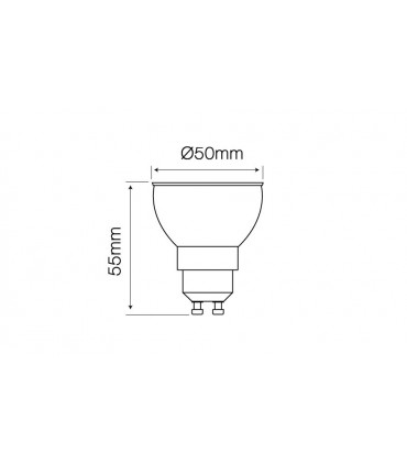 LED LINE GU10 COB 170-250V 8W 500LM 2700K 12°