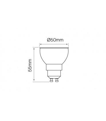 LED LINE GU10 COB 170-250V 8W 500LM 4000K 24°