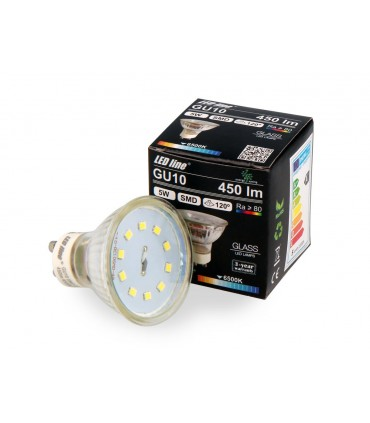 LED LINE GU10 SMD 220-260V 5W 450LM 120° 6500K