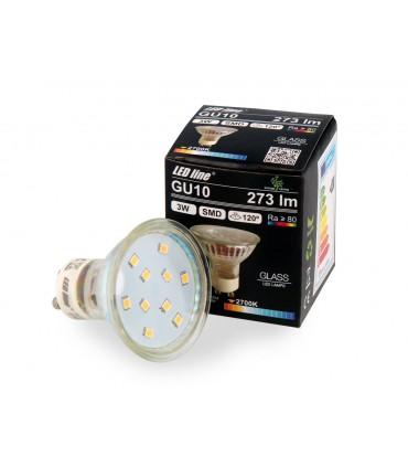 LED LINE GU10 SMD 220-260V 3W 273LM 120° 2700K