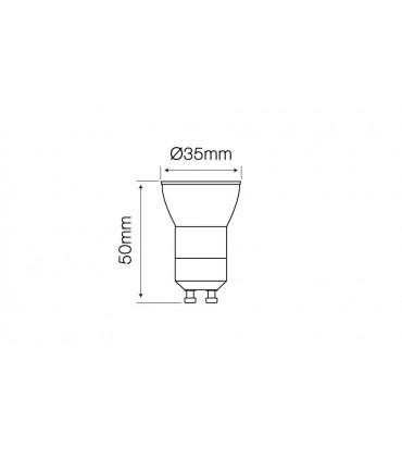 LED LINE GU11 SMD 170-250V AC 3W 255LM 6000K 38°