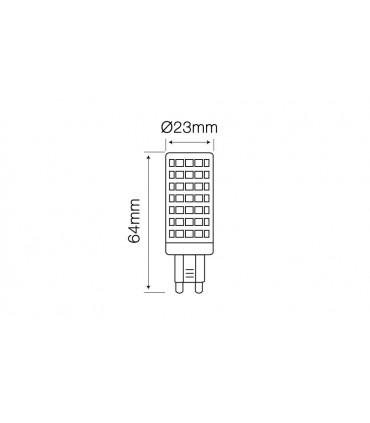 LED LINE G9 220-240V 12W 1080LM 6000K