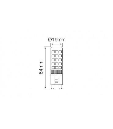 LED LINE G9 220-240V 8W 750LM 2700K