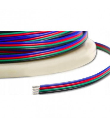 KABEL LED RGB DO TAŚM LED RGB / PRZEWÓD 4X0,35 / 10MB