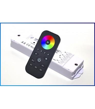 WIELOSTREFOWY KONTROLER DO TAŚM LED RGB+W RADIOWY RF 240W DO 4 STREF Z PILOTEM DOTYKOWYM
