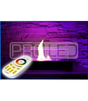 BIOKOMINEK Z PODŚWIETLENIEM LED RGBW ZE STEROWANIEM NA PILOTA