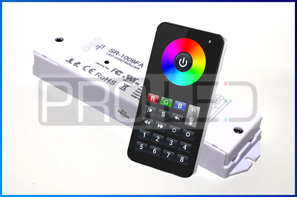 WIELOSTREFOWY KONTROLER SR1009FA DO TAŚM LED RGB+W RADIOWY RF 240W