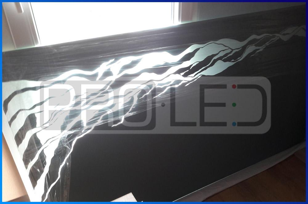 Lustro podświetlane LED na wymiar z dowolną grafiką