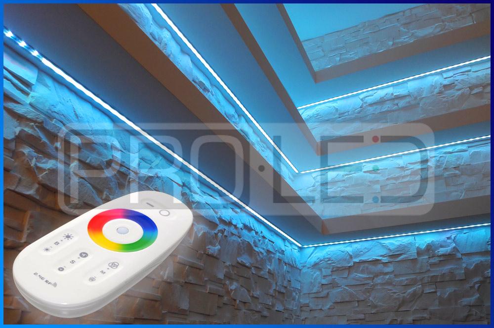 Podświetlane półki LED - realizacje